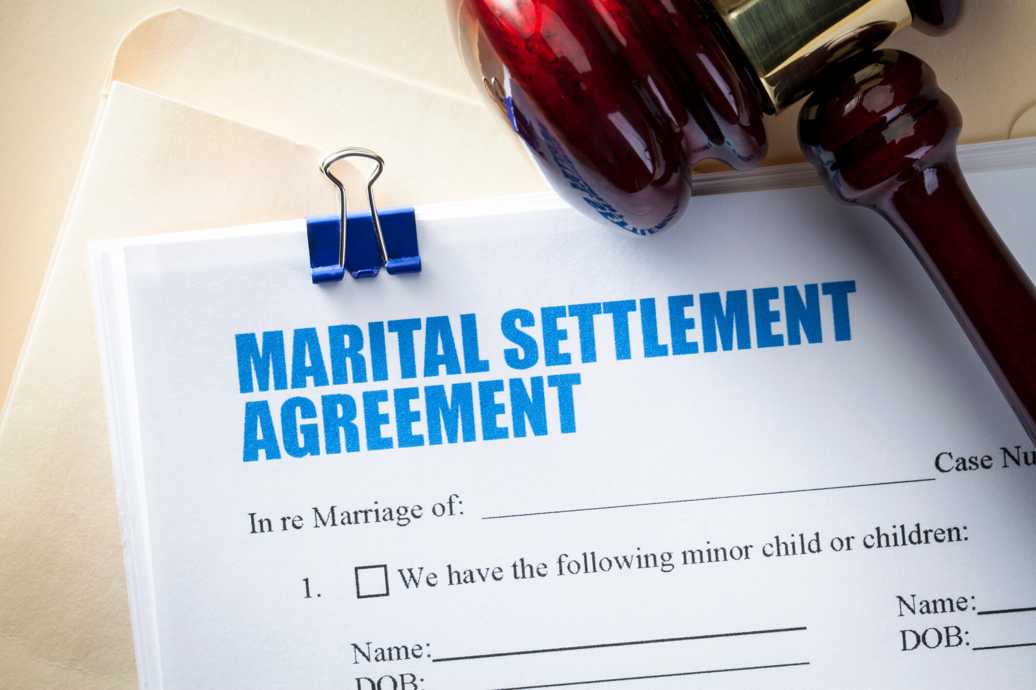Marriage support agreement
